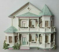 Brian Bakers DejaVu Collection White Gingerbread House 1673 Eaton Street Plaque