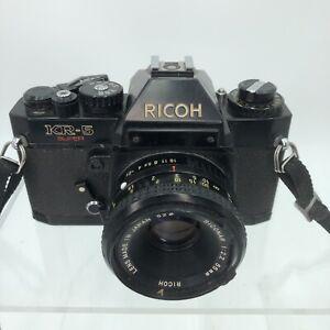 Ricoh KR 10 Super 35mm SLR Film Camera with 55 mm Lens Vintage