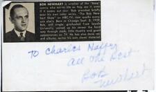 BOB NEWHART-ORIGINAL AUTOGRAPHED CARD