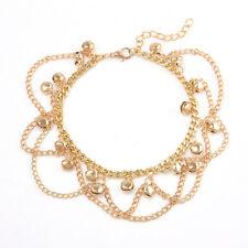 Women 14K Gold Filled Multy-layer Lucky Bell Chain Anklet & Bracelet