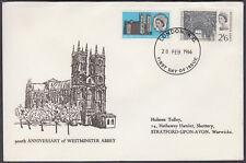 1966 Westminster Abbey scarce design FDC; London WC FDI