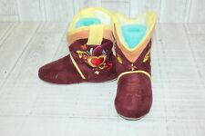 **Ciccia Bella Heart Cowgirl Rider Boot Slippers - Girls' Size 12/13-1/2, Brown