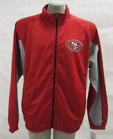 San Francisco 49ers NFL Men's Red Full-Zip Performance Track Jacket