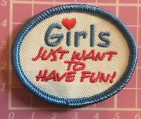 Girls Just Want To Have Fun Badge Sew On Camp Blanket Guides Brownies Scouts