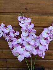 Orchidée Phalaenopsis géante fleur artificielle décoration mariage maison Mauve.