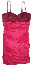 Speechless Pink Black Sequin Ruched Stretch Short Dress Junior Size Large L