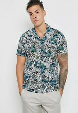 Topman - Floral Revere Shirt Multi Size Medium 59RN97
