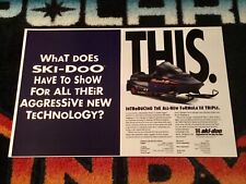 96 Ski-Doo Formula Snowmobile Poster semi vintage Triple Purple Screamer�