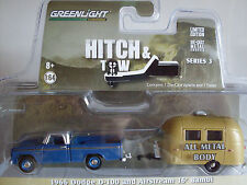 1966 Dodge D-100 with Airstream 16´ Bambi, Greenlight 1:64 Lim. Edition 32030/A