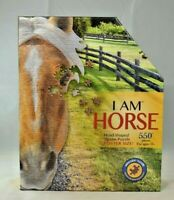 """Madd Capp Puzzles - """"I Am Horse"""" 529 Piece Head Shaped Jigsaw Puzzle w/Poster"""
