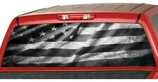 AMERICAN flag B&W  Rear Window Graphics Decal Pickup Truck Wrap