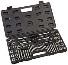 SAE Metric Tap and Die Set 60pcs w/Storage Case Alloy Steel Thread Making Tool