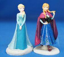"Disney Frozen Anna & Elsa Resin Figurine 2 Piece Set 5"" tall Statue"