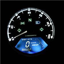 LCD Digital Tachometer Speedometer Odometer Motorcycle Motorbike 12000RPM