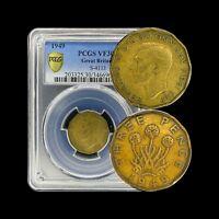1949 Great Britain 3 Pence - PCGS VF30 (Choice) - Scarce Key Date!