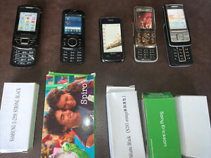 MOBILE PHONES x 5 Dummy Phones DISPLAY REPLICA  JOB LOT BUNDLE TOY Boxes NEW