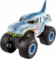 Hot Wheels Monster Trucks Double Troubles Mega-Wrex Vehicle  -  Blue 1:24 Scale