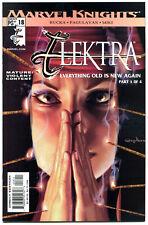 ELEKTRA #18, NM+, Greg Horn, Sai, Martial Arts, Femme Fatale, 2001.more in store