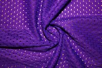 Lavender Athletic Sports Mesh Knit Polyester Football Jersey Fabric BTY