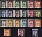 W Germany 1970-73 President Heinemann SG 1535-1555 MNH (Cat £31)