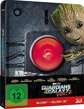 GUARDIANS OF THE GALAXY VOL. 2 (Blu-ray 3 D + Blu-ray Disc, Steelbook) NEU