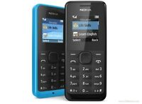 New NOKIA 105 Mobile Phone Dual Sim Unlocked Basic 2 Sim DUAL SIM Phone BLACK