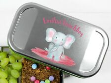 Lunchbox mit Elefant und Namen personalisiert BPA-frei Butterbrotdose