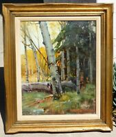 Frederick W Becker, b.1888 CA/OK artist, Taos oil/canvas 16x 20