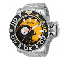 Invicta 70mm Full Automatic Sea Hunter Gen III NFL Pittsburgh Steelers SS Watch