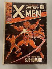 X-Men # 41 •GD+• Marvel (1968 )• Origin & 1st App Grotesk, Origin of Cyclops
