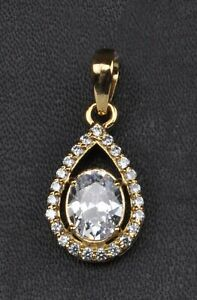 14KT Yellow Gold With D/VVS1 3.35 Carat Oval Cut Solitaire With Accents Pendant