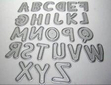 Brand New English Bubble capital letters uppercase 26 Alphabet A-z  Die Cutters