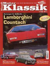 Motor Klassik 11/98 1998 Maybach SW 38 Audi 80 GTE Countach LP400 Olympia Rekord