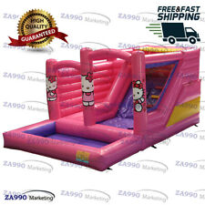 20x13ft Inflable Hello Kitty Bounce House Castle diapositiva & Piscina con soplador de aire