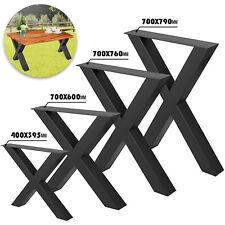 2X Pieds de Table Cross Forme 40cm 72cm Salle à Manger Cadre de Table Pied Métal