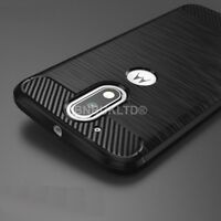 For Motorola Moto G4 Carbon Fibre Gel Case Cover Ultra Slim Shockproof
