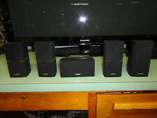 5 BOSE DOUBLE CUBE ACOUSTIMASS SPEAKERS, GREAT CONDITION, GENTLY USED