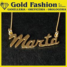 Collana placcata oro con tuo nome - pendente tuo nome