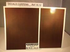 DECALS 1/18 APPLATS DE KEVLAR (1ère version) - CARPENA  1812