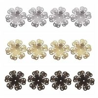 100Pcs Vintage Filigree Flower End Bead Caps DIY Craft Making Jewelry Findings