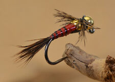 6 Flies - Tungsten Two Bit Hooker Jig Head Fly - Euro nymph - Hanak Hook