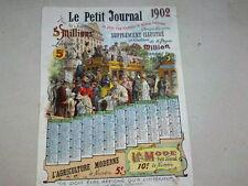 ANCIEN CALENDRIER LE PETIT JOURNAL  1902