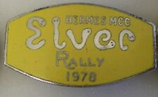 HERMES poste ELVER Rally 1978 MOTO MOTO Enamel Pin Badge