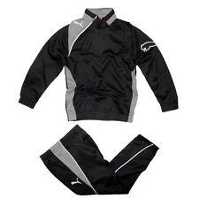 Puma Kinder Trainingsanzug Jogginganzug Sport Anzug Jacke Hose schwarz M XS NEU