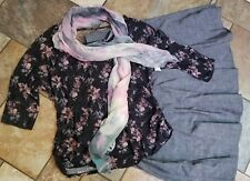 women's plus size clothing lot outfit sz 22w skirt, 3x NWT blouse, New scarf