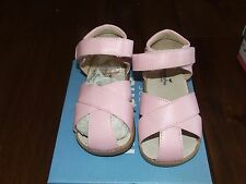 New Mooshu Trainers Sz 8 Pink Sandals Princt 15 Leather Toddler Shoes Summer
