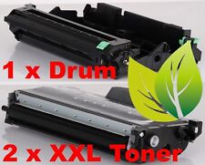 Brother DCP-7030 hochwertiges Rebuilt Toner + Trommel Set 1 x DR2100, 2 x TN2120