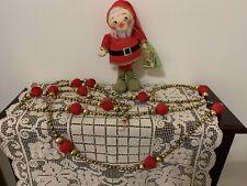 "Vintage 1950s ""Made in Japan"": ""Beaded Christmas Garland"" + ""Santa'S Elf Doll"""