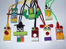 8 MAKE YOU OWN PARTY FAVORS LEGO BRICK BLOCK NECKLACES  BIRTHDAY GRAB BAGS GIFT