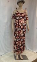 Woman's Rags & Coutures Burgundy Ankle Length Cold Shoulder Dress Size Large
